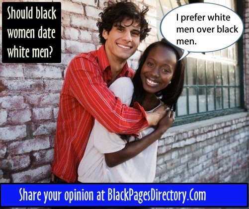Black men and white women dating